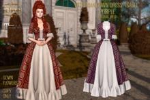 ":: ANTAYA :: Victorian gown dress ""Isabel"" purple / Maitreya / Original mesh"