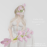 *N*CallaLily Bouquet & Vail pink