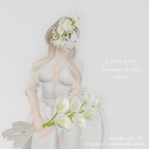 *N*CallaLily Bouquet & Vail white