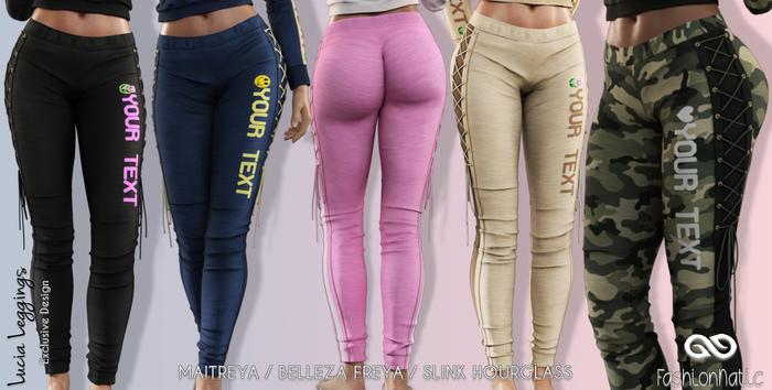 Lucia Female Leggings FATPACK - MESH - Maitreya Lara, Slink Hourglass, Belleza Freya - FashionNatic