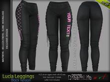 Lucia Female Leggings BLACK - MESH - Maitreya Lara, Slink Hourglass, Belleza Freya - FashionNatic