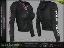 Lucia Female Sweatshirt BLACK - MESH - Maitreya Lara, Slink Hourglass, Belleza Freya - FashionNatic