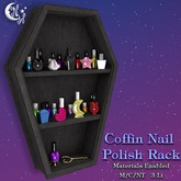 *NW* Coffin Nail Polish Rack - Black