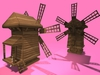 "1-2 prim full perm ""Wind Mill w Rotation Wind Blades"" sculpt maps kit, any texture"
