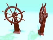 """1 prim full perm """"Ship Control Wheel"""" sculpt map, any texture"""