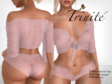 Trinite Marilyn Top and Shorts Pink (wear me to unpack)