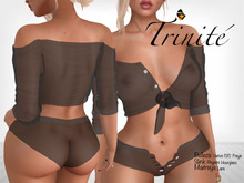 Trinite Marilyn Top and Shorts Black (wear me to unpack)