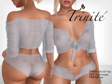 Trinite Marilyn Top and Shorts Blue (wear me to unpack)