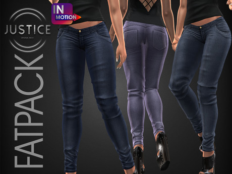 [JUSTICE] NAIDINE JEANS [InMotion] - FATPACK