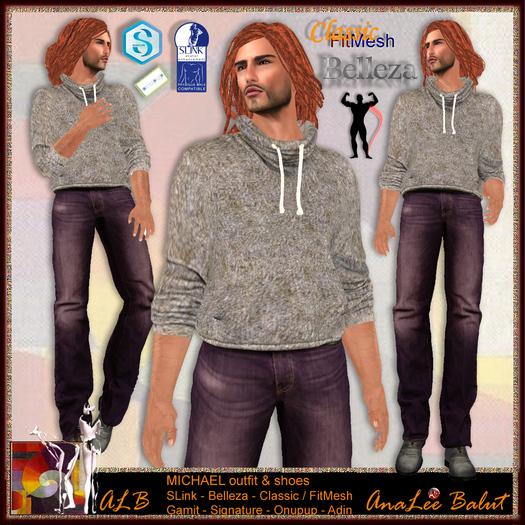 ALB MICHAEL outfit - Belleza Jack Classic / Fitmesh SLink male Signature gianni Onupup Adin FitMesh Gamit ocacin