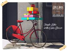 Jingle Bike Decor with Gifts ♥ CHEZ MOI