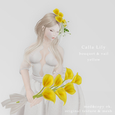 *N*CallaLily Bouquet & Vail ylw