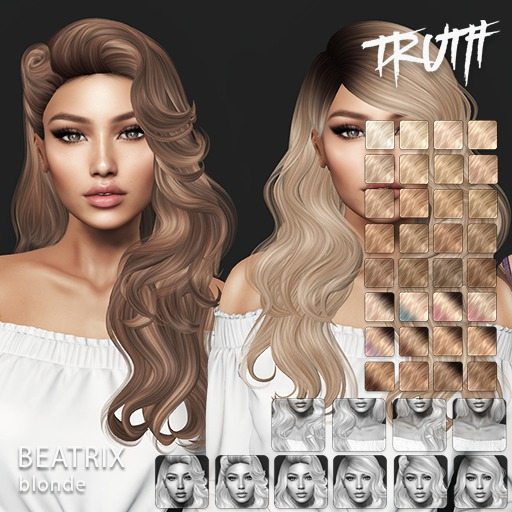 TRUTH Beatrix (Fitted Mesh Hair) - Blonde