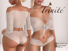 Trinite Marilyn Top and Shorts White (wear me to unpack)
