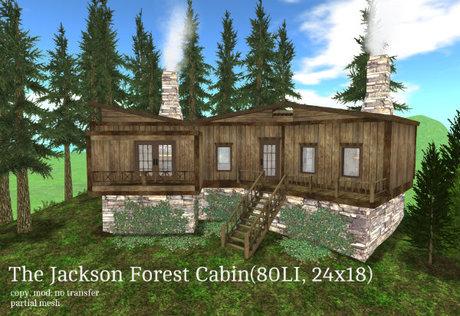 The Jackson Forest Cabin(80LI, 24x18)