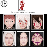 Le Forme Shinobi (Catwa) Face Paintings