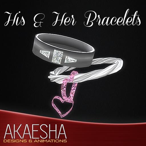 Akaesha's REALISTIC Diamond Heart Him and Her Bracelets