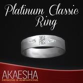 Akaesha's REALISTIC Diamond Ring (Mens, Model: Platinum Classic)