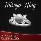 Akaesha's REALISTIC Diamond Ring w/ Pearl (Model: Mireya)