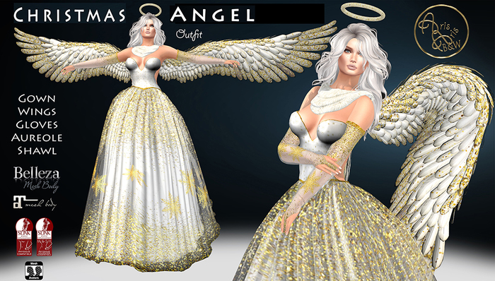 ***ArisarisB&W~Alus90~ Christmas Angel Outfit