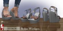 Eclectica Boho Wedges- pastels & dove