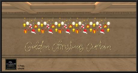 Zinner Gallery - Golden Christmas Curtain