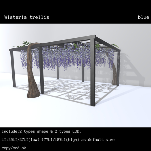 *N*Wisteria trellis blue