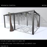 *N*Wisteria trellis white