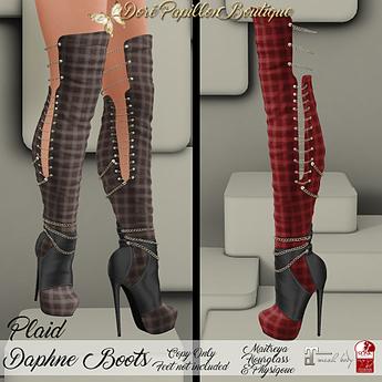 Marketplace - DPB Daphne Boots - Plaid Red