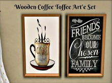 Coffee Toffee Wooden Art'e Set