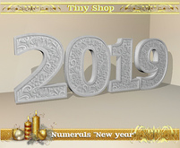 "Numerals ""New year "", 100% mesh (full perm)."