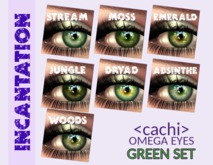 <cachi> Incantation Eyes - [Green Set] *wear*