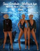 Wolfpack Line Swimsuit & Robe Black