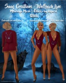 Wolfpack Line Swimsuit & Robe Wine