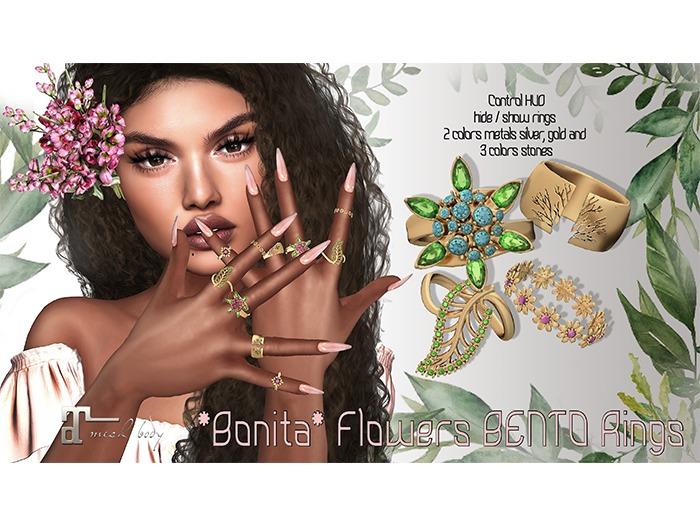*Bonita* Flowers bento rings