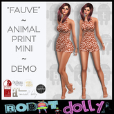 "Robot Dolly - ""Fauve"" - animal print mini - DEMO"