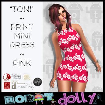 """RD- """"Toni"""" - print mini - Pink"""
