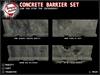 [Tampon Inside] Concrete Barrier Set