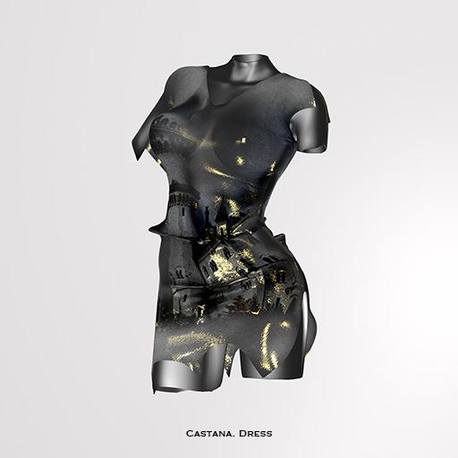 RAPTURE-Dress Castana-Raven-[ADD ME]