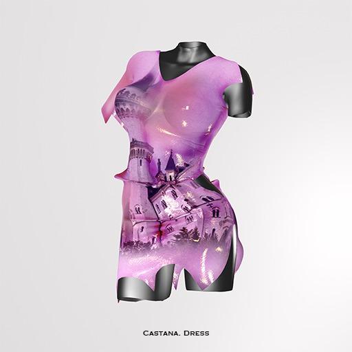 RAPTURE-Dress Castana-Magenta-[ADD ME]