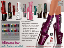 Maci ~ Belladonna Boots (compatible with Classic Avatars, Slink & Maitreya Bodies)