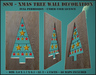 SSM - Xmas Tree Wall Decoration