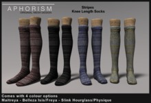 !APHORISM! Knee Socks - Stripes