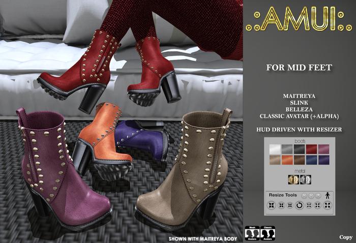 ".:AMUI:. ""Lana"" Boots (Maitreya, Belleza, Slink)"