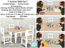 *CC* Activity Table&Chair Set  (WEAR to UNPACK)