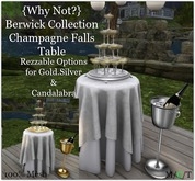 {Why Not?} Berwick Collection Champagne Falls Table-Boxed