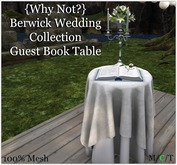 {Why Not?} Berwick Wedding Collection Guest Table- Boxed
