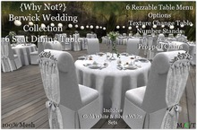 The {Why Not?} Berwick Wedding Collection Table 6 Seat-Boxed