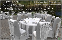 {Why Not?} Berwick Wedding Collection Table Set 8 -Boxed