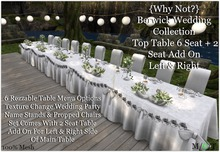 {Why Not?} Berwick Wedding Collection Top Table 6-Boxed